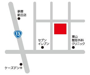 トータル・サポート新庄ヘのアクセスマップ