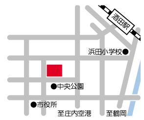 庄内プラザへのアクセスマップ