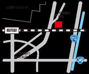 ハローワーク鶴岡へのアクセスマップ
