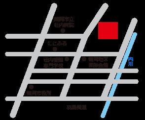 鶴岡市勤労者会館へのアクセスマップ