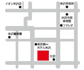 トータル・ジョブサポート米沢へのアクセスマップ